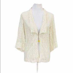 ❤️ 5/25 {UO} Sparkle & Fade Ivory Lace Boho Jacket